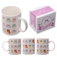 Fantasy Tasse Eulen Kaffeetasse Eule Kaffeebecher Becher Mug Owls Teetasse NEU
