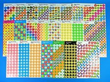 Trend Sticker Sheet *You Choose* Smiley Faces-Stars-Apples-Puzzle-Hands & More