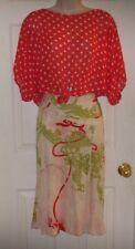 Vintage Christian Lacroix Paris Sz M Rayon Geometric Pattern Women's Skirt