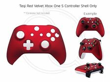 New Xbox One S Red Velvet Soft microsoft Controller Front Shell Unique custom