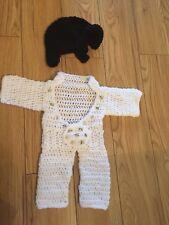 Handmade newborn Elvis Jumpsuit & hat set Outfit Baby Fancy Dress Photo Props