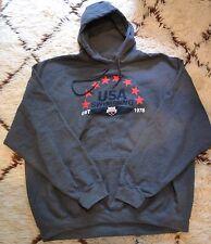 New listing New Usa Swimming Pullover Hoodie Hooded Swim Sweatshirt Gray Sz Xxl