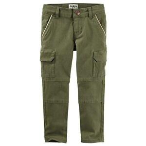 OshKosh B'gosh Girls' Skinny Soft Cargo Pants size 10 Casual Relaxed Fit Comfort