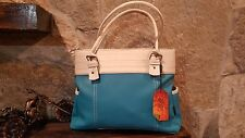 Women leather bags in Blue Shoulder style Hand Bags