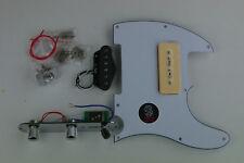 Voodoo Vibe Telecaster Tele S-P90 LOADED PICKGUARD White 3 Ply Soap Bar PUPs PUs