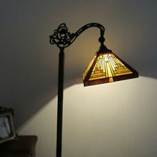 Arts craftsmission style floor lamps ebay tiffany style mission 1 bulb reading stained glass floor lamp 11 wide mozeypictures Images