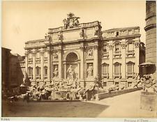 Italie, Roma, Fontana di Trevi Vintage albumen print.  Tirage albuminé  20x2