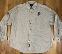 Port Authority Iowa State University Cyclones Button Down Dress Shirt L/S Beige