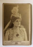 Cabinet Card Photo French London Stage Actress Juliette Nesville 1890s Antique