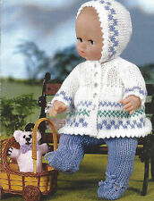 DOLLS PRAM SET KNITTING PATTERN FOR DOLLS 12 TO 22 INCH  (841)