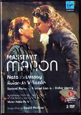 2.DVD Rolando VILLAZON Signed MASSENET MANON Natalie DESSAY Samuel RAMEY 2007