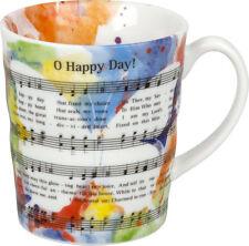 Henkelbecher Oh happy Day! Kaffeetasse Kaffeebecher Henkeltasse Tasse Geschenk
