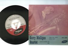 "GERRY MULLIGAN QUARTET, RARE 1960's JAZZ EP 7""x45rpm UK RECORD PIC SLV"