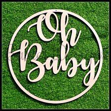 Personalised Baby Shower Celebration Hanging Sign Wooden Name Decoration
