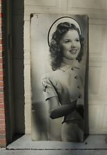 "RARE Vintage Life Size Shirley Temple Hard Board Poster, Curly Top 65"" T x 28"" W"
