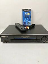 New listing Panasonic 4 Head Pv 7665S Omnivision Vcr With Remote Av Cables Vhs Tape Tested