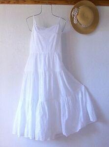 New~$118~White Eyelet Lace Peasant Tiered Prairie Cotton Boho Plus Size Dress~3X