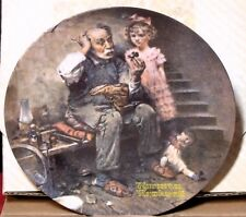 """Vintage '78 Porcelain Plate """" The Cobbler� by Rockwell – in Original Box"""