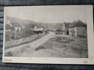 PRINTED POSTCARD GENERAL VIEW OXWICH SWANSEA GOWER F-GOOD COND B&W 1910 SKELETON