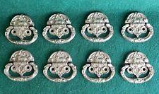 8 MATCHING VINTAGE CAST METAL DRAWER PULLS/ HANDLES WITH SHEEP (N63)