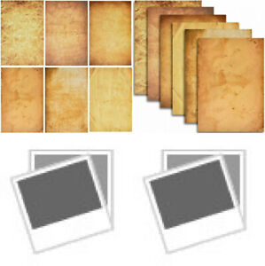 120 Pack Aged Paper Vintage Antique Stationery Papers Old Fashion Looking 6...