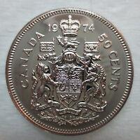 1974 CANADA 50 CENTS PROOF-LIKE HALF DOLLAR COIN