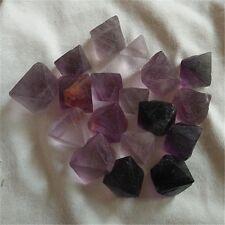 NATURAL purple Fluorite quartz crystal Octahedron Specimens 100g 15-20pcs #0619