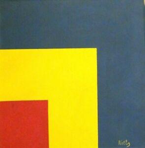 Vintage Abstract  Canvas Signed Ellsworth Kelly , Modern  Art 20th Century