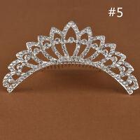Wedding Bridal Bridesmaid Prom Party Rhinestone Tiara Hair Comb Crown Headpiece