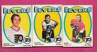 1971-72 OPC FLYERS KELLY RC + ASHBEE RC + BERNIER RC   CARD (INV# C3912)