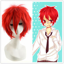 Halloween Cosplay costume Party Loose shaggy Short pixie cropped Red Wig Wigs