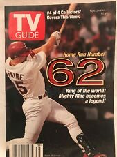TV Guide Sept 26-Oct 2 Mark McGwire 1998