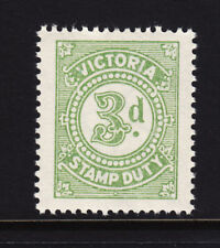 Victoria: 3d Stamp Duty Muh