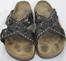Betula Birkenstock EUR 41 US 10 Jeweled Beaded Black Sandals Shoes Slides