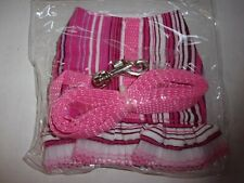 Pink Stripes lace Ferret Fashion Jacket Style Harness Lead teacup dog puppy tiny