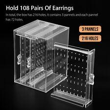 Acrylic Jewelry Storage Box Earring Rack Display Stand Organizer Holder 3 Drawer
