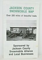 Vintage Snowmobile Trails in Jackson County Wisconsin Trail Map #2