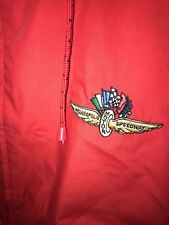 "INDIANAPOLIS MOTOR SPEEDWAY"" Full Zip Jacket Size M. Red Mens Sports Jacket"