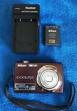 Nikon COOLPIX S220 10.0MP Digital Camera - Plum ~~NICE~~