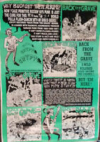 Crypt Records Back From The Grave Limited Ed Promo Poster 21 x 31 Tim Warren