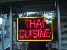 """New Thai Cuisie Bar Pub Wall Decor Acrylic Neon Light Sign 17""""x14"""""""