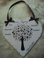 PERFECT GIFT( ideal Christmas) personalised FAMILY TREE heart keepsake GORGEOUS
