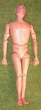 VINTAGE ACTION MAN 40th NUDE NAKED DOLL HARD HANDS FLOCKED HAIR BLONDE