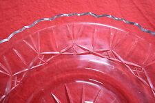 Art Deco-Anbietschale-D 28 cm-Bleikristall um 1930-Kerbhandschliff