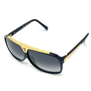 LOUIS VUITTON Z0350E LV Evi Dance Eyewear Sunglasses Shades Black x Gold