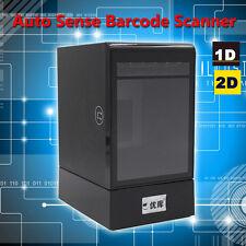 New USB Automatic 360° Fast Barcode Bar Code Scanner 2D QR PDF417 Reader K8