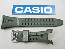 Genuine Casio Pathfinder PAW-1200 PAW-1200-3 resin rubber watch band strap green
