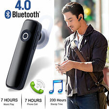 Wireless Bluetooth Headset Earpiece Stereo Handsfree Black Headphones Samsung