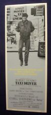 TAXI DRIVER 14X36 ORIGINAL ROLLED MOVIE POSTER INSERT 1976 ROBERT DENIRO STYLE B