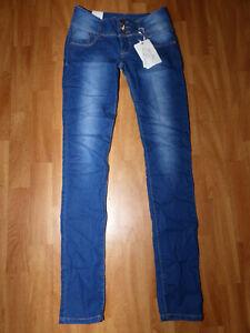 Neue Just One Fashion Damen Skinny Röhrenjeans Gr 36 Blau Hüftjeans Stretch